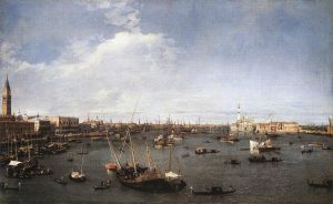 Canaletto, The Bacino di San Marco, about 1738-39, MFA, Boston