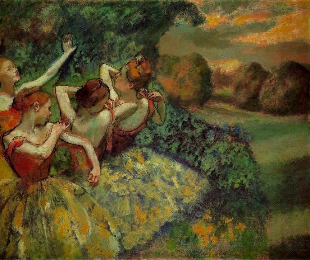 Birthday Degas 4 Dancers