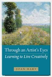 Ebook cover-Through An Artist's Eyes, Learning to Live Creatively