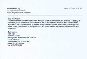 Mark Hain letter