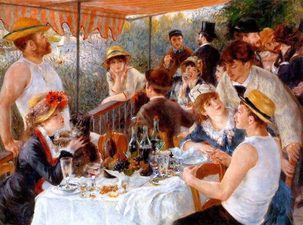 Renoir, Luncheon of the Boating Party, 1880-1881, oil on canvas, The Phillips Collection, Washington, D.C.
