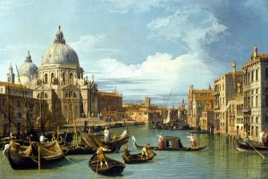 Canaletto, Entrance to the Grand Canal, Looking West, about 1729, MFA, Houston