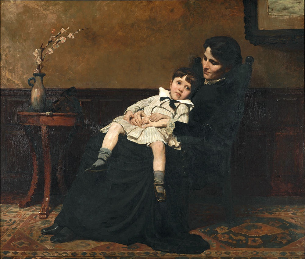Cecilia Beaux, Les Derniers Jours d'Enfance, oil on canvas, 1883-1885, Pennsylvania Academy of the Fine Arts, Philadelphia, PA