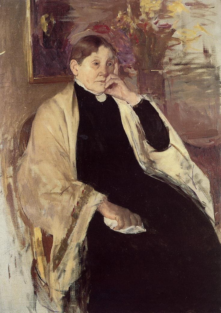 Mary Cassatt, Katherine Johnston Cassatt, 1873, oil on panel, Private collection