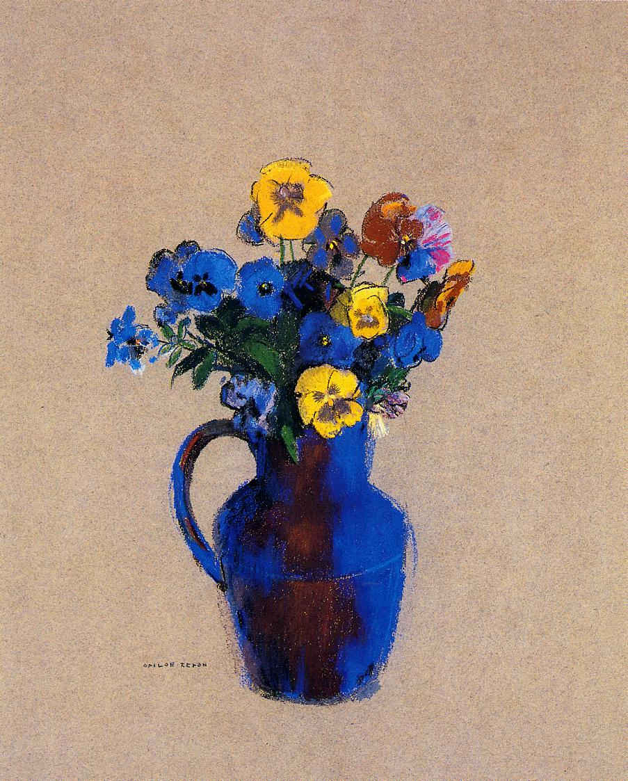 Arts Everyday Living: Redon---Dreaming of Flowers