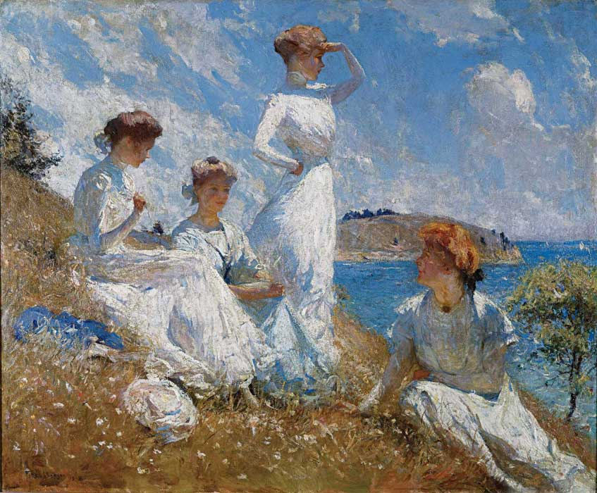 Arts Everyday Living: Impressionist Frank W. Benson---Island Summer
