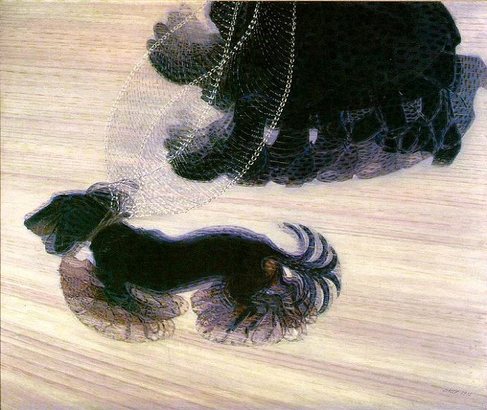 Giacomo Balla, Dynamism of a Dog on its Leash, 1912, oil on canvas, Albright Knox Museum, Buffalo, New York