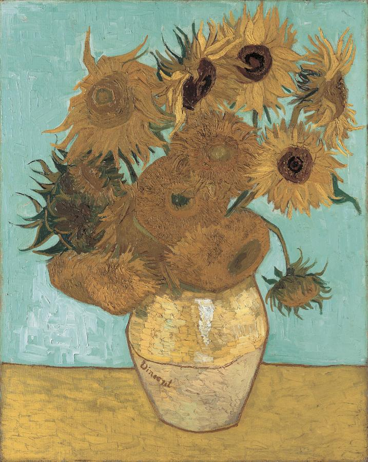 Arts Everyday Living: Neue Pinakothek Museum---Sunflowers in Germany