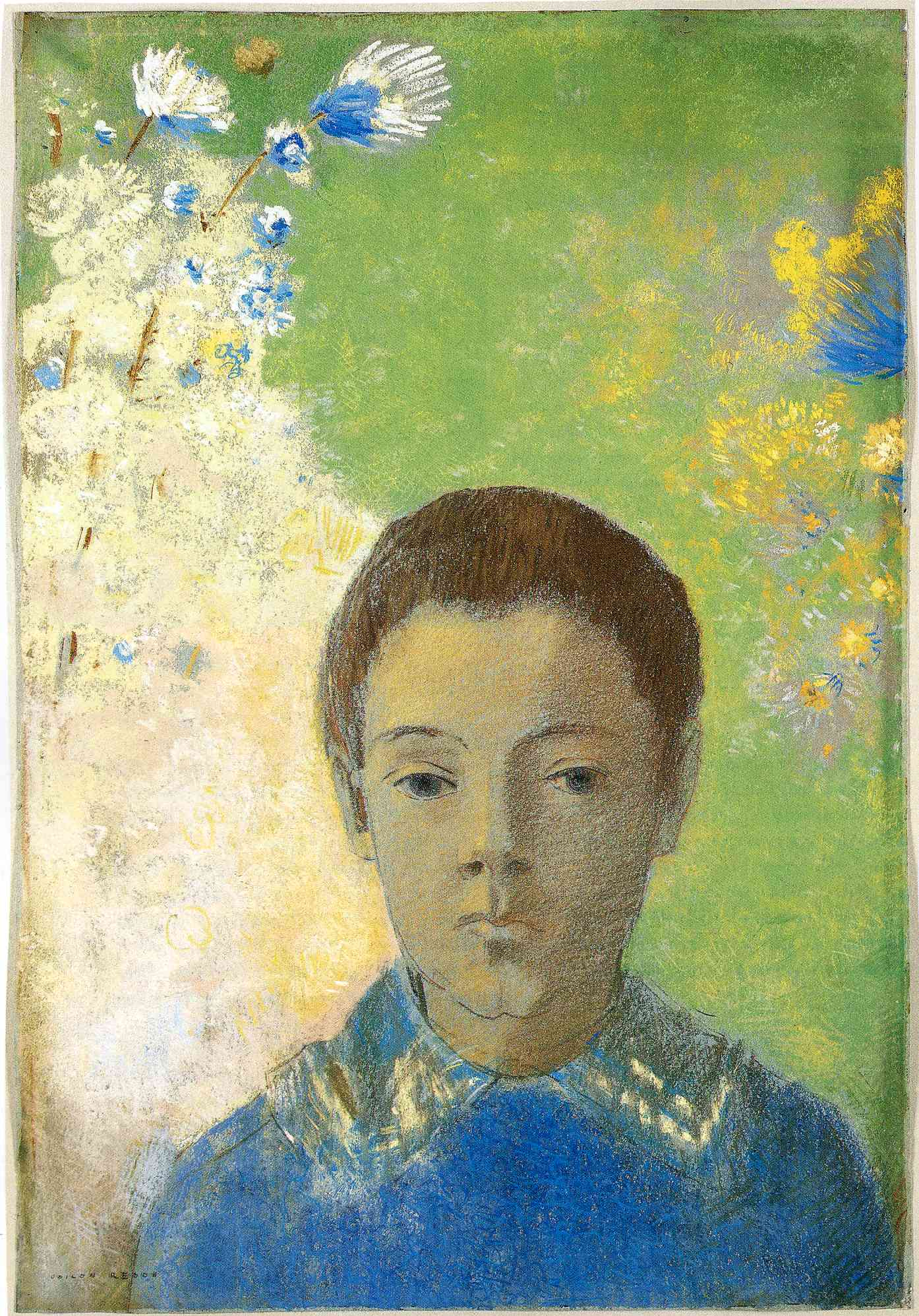 Odilon Redon, Ari Redon, 1897, pastel, Art Institute of Chicago, Illinois