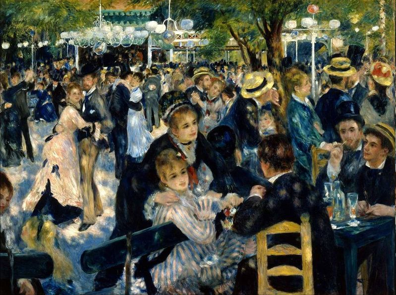Arts Everyday Living: Toulouse-Lautrec, Renoir, and Picasso---Inside the Moulin de la Galette