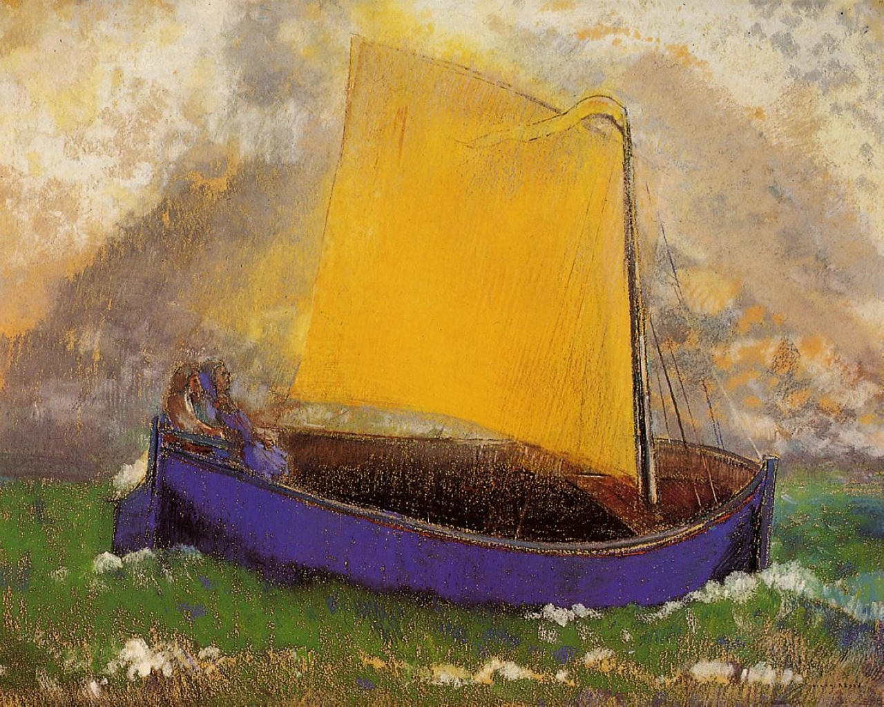 Odilon Redon, The Mysterious Boat, c.1892, pastel, Private Collection