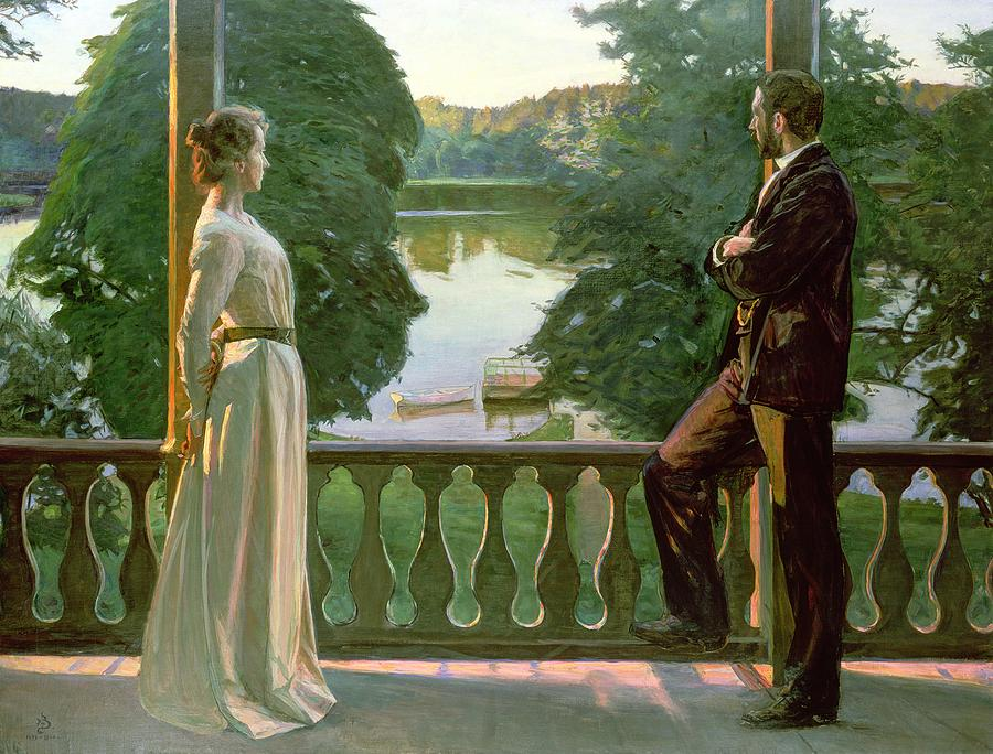 Richard Bergh, Nordic Summer Evening, 1899-1900, oil on canvas, Goteborgs Konstsmuseum, Sweden