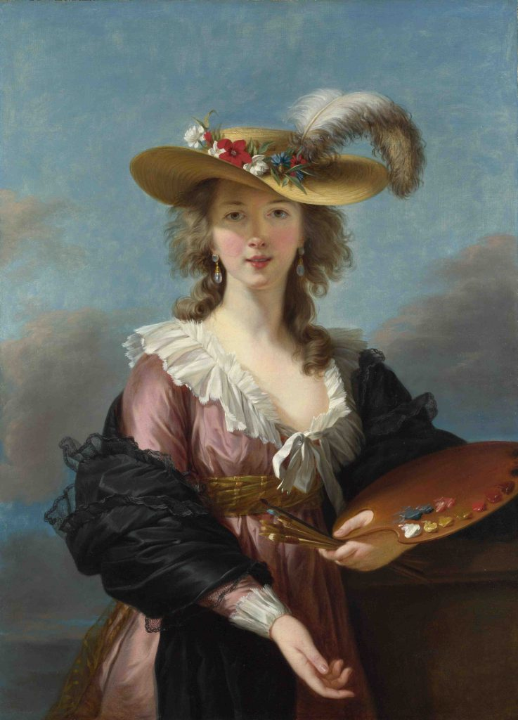 Elisabeth-Louise-Vigee-Lebrun, Self Portrait with a Straw Hat