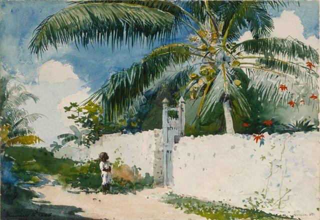 Winslow_Homer_-_A_Garden_in_Nassau_(1885)