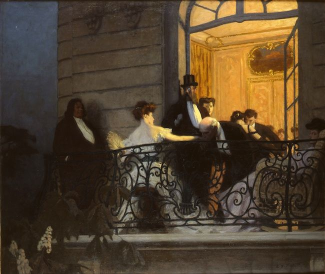 Rene Xavier Prinet, The Balcony