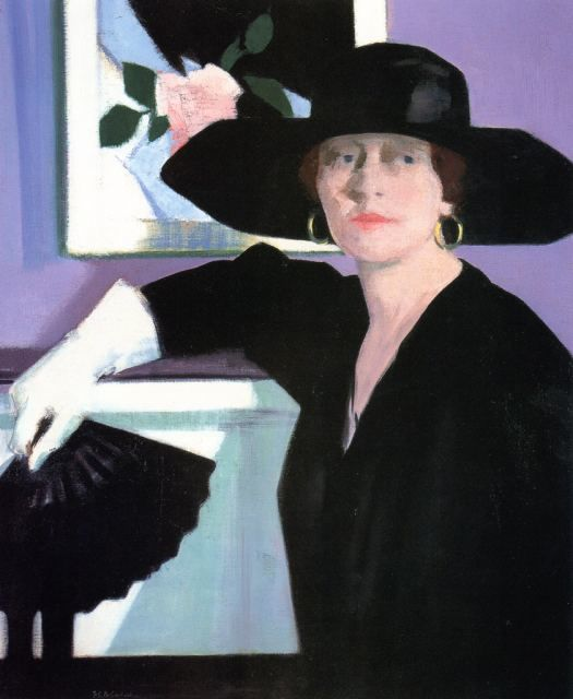 F.C.B. Cadell, Portrait of a Lady in Black, c. 1921, oil on canvas, National Gallery of Scotland, Edinburgh