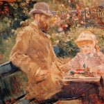 Eugene_2 Manet_and_His_Daughter_at_Bougival_1881_Berthe_Morisot