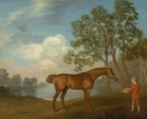George Stubbs: Pumpkin with a Stable Lad