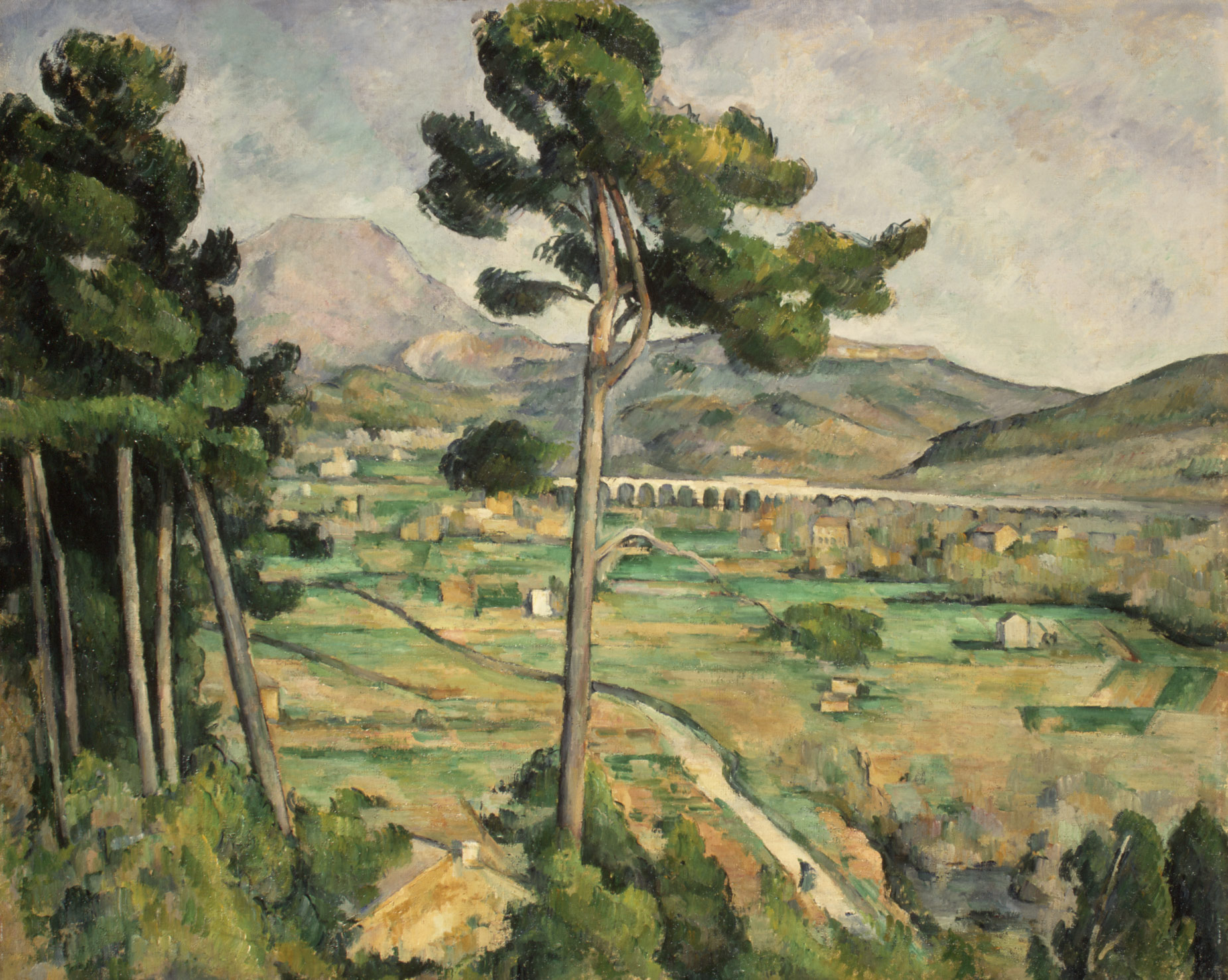 Paul Cezanne, Mont Sainte-Victoire and the Viaduct of the Arc River Valley, 1885-1887, oil on canvas, Metropolitan Museum of Art, New York