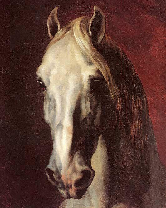 Gericault: Head of a White Horse
