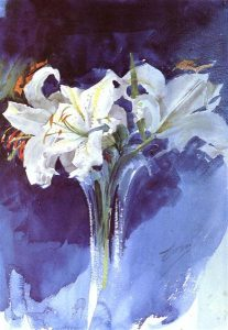 Anders Zorn: White Lillies