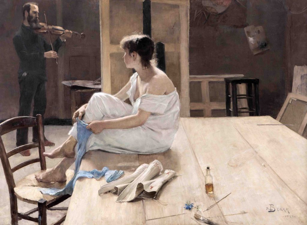 Richard Bergh, After the Sitting, 1884, oil on canvas, Malmo Art Museum, Malmo, Sweden