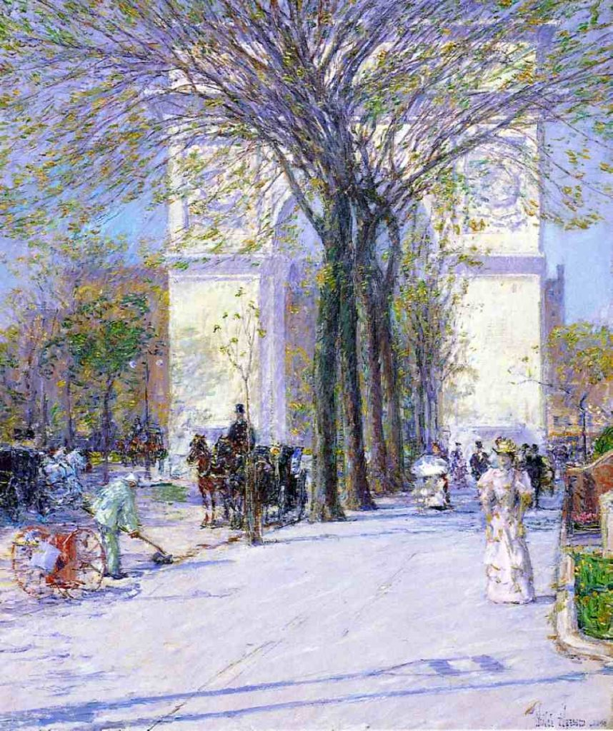 Childe Hassam, Washington Arch, Spring, 1890, oil on canvas, Phillips Collection, Washington, D.C.