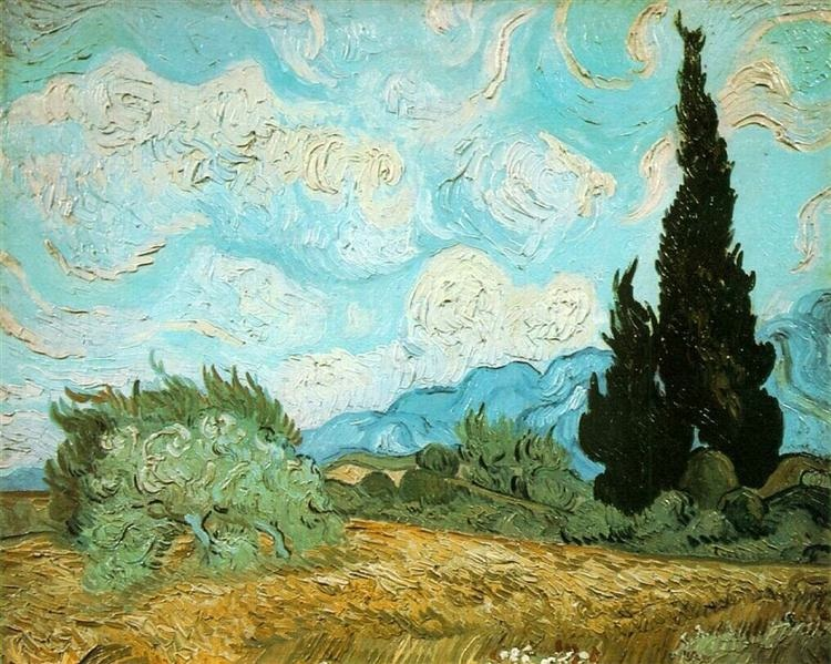 Vincent van Gogh, Wheatfield with Cypresses, 1889, oil on canvas, Tate Gallery, London, UK