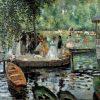 Pierre-Auguste Renoir, La Grenouillere, 1869, oil on canvas, Nationalmuseum, Stockholm, Sweden