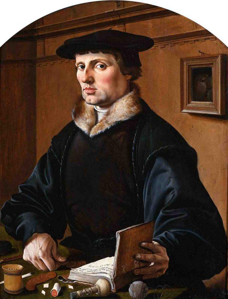 Marten van Heemskerck, Portrait of a Man, 1529, oil on panel, Rijksmuseum, Amsterdam, Netherlands