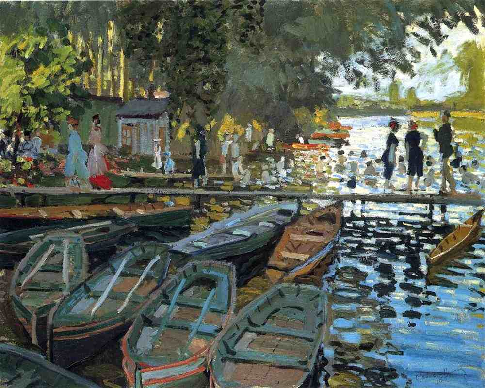 Claude Monet, Bathers at La Grenouillere, 1869, oil on canvas, The National Gallery, London, UK