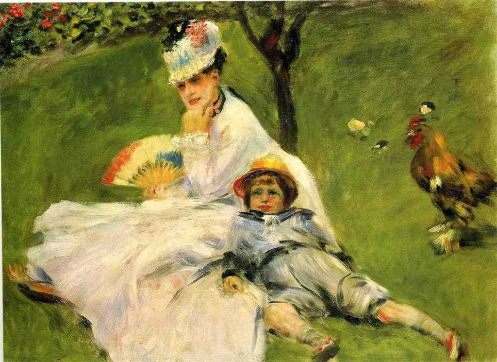 Pierre-Auguste Renoir, Madame Monet and Her Son in the Garden at Argenteuil, 1874, oil on canvas, National Gallery of Art, Washington, D.C.