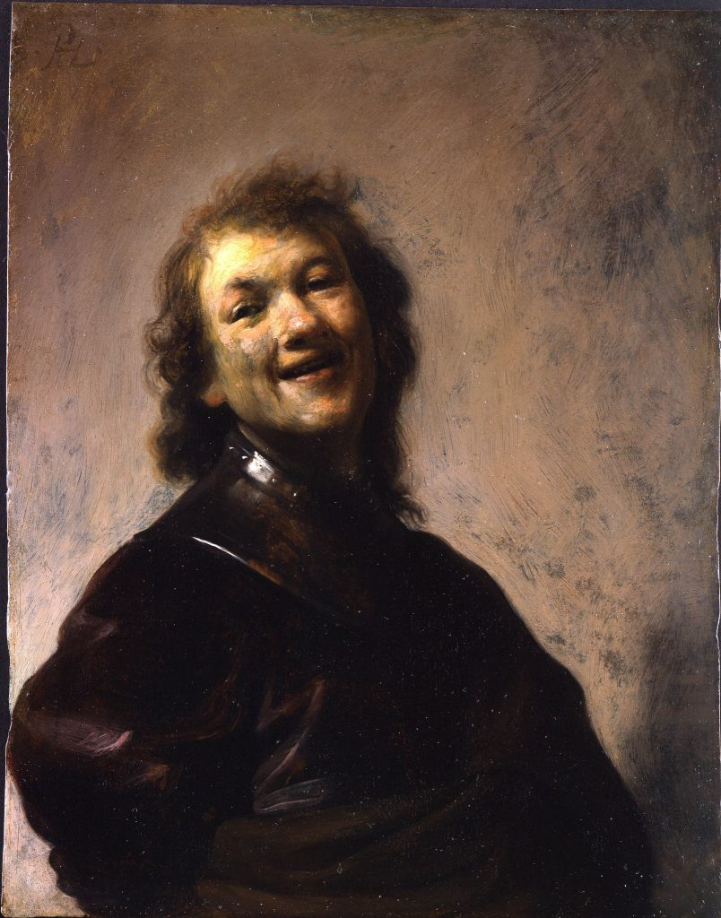 Rembrandt, Self Portrait or Rembrandt Laughing, c. 1668, oil on canvas, Wallraf-Richartz-Museum, Cologne, Germany