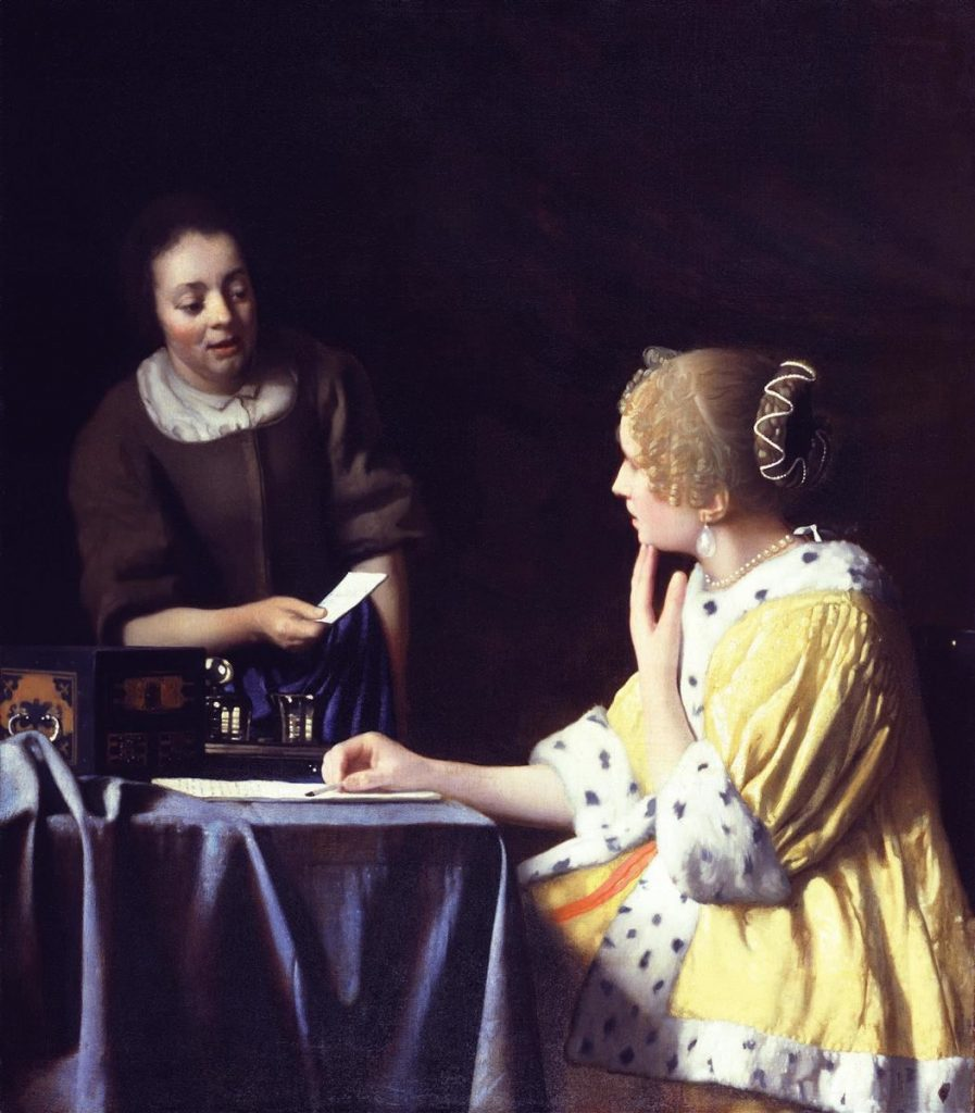 mistress-and-maid-lady-with-her-maidservant-holding-a-letter.jpg!HD