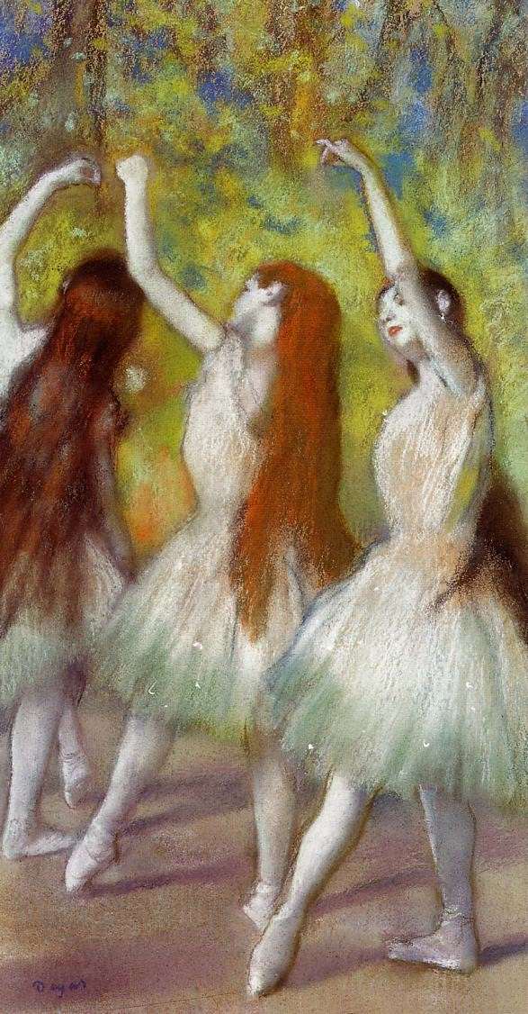 Degas, Dancers in Green