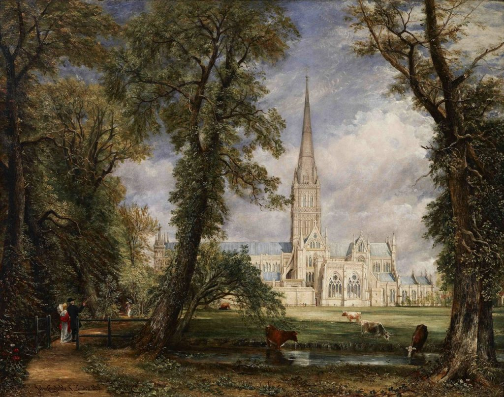 John Constable, Salisbury Cathedral from the Bishop's Ground, c. 1825, oil on canvas, Metropolitan Museum of Art, New York