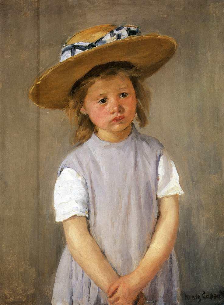 Mary Cassatt, Child in a Straw Hat, c. 1886, oil on canvas, National Gallery of Art, Washington, D.C.