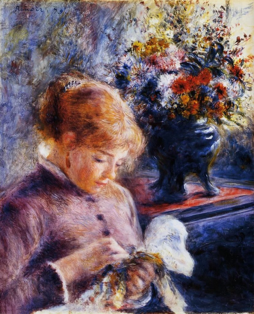 Pierre-Auguste Renoir, Young Woman Sewing, 1879, oil on canvas, The Art Institute of Chicago, Illinois
