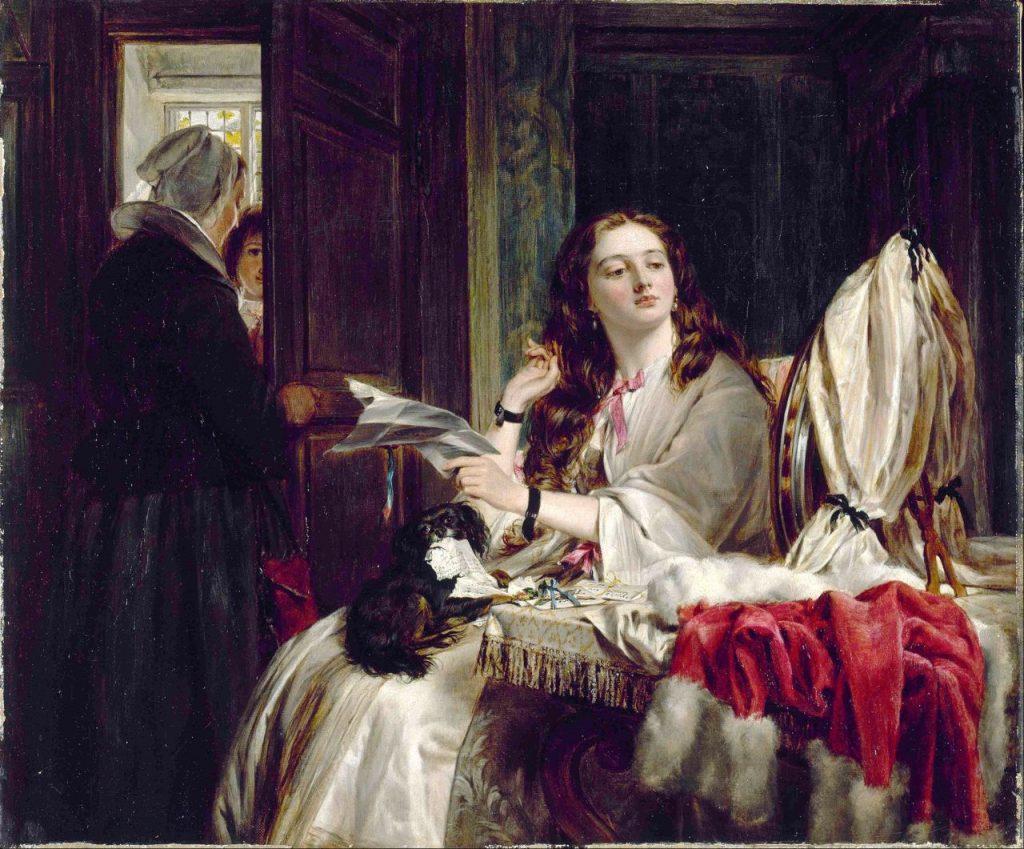 John Callcott Horsley, The Morning of St. Valentine, 1865, oil, Walker Art Gallery, National Museums, Liverpool, UK
