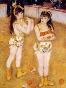 Pierre-Auguste Renoir, Acrobats at the Cirque Fernando, 1879, oil on canvas, The Art Institute of Chicago, Illinois