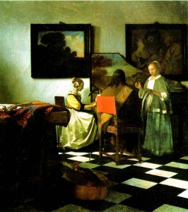 Johannes Vermeer, The Concert, c. 1665-1666, oil, Location unknown