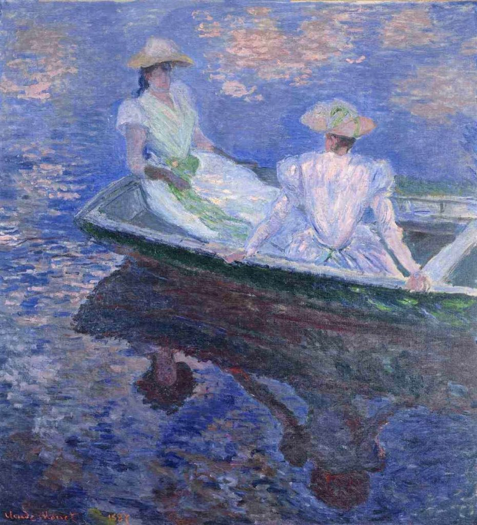 Cluade Monet, Young Girls in a Row Boat, 1887, oil on canvas, National Museum of Western Art, Tokyo, Japan
