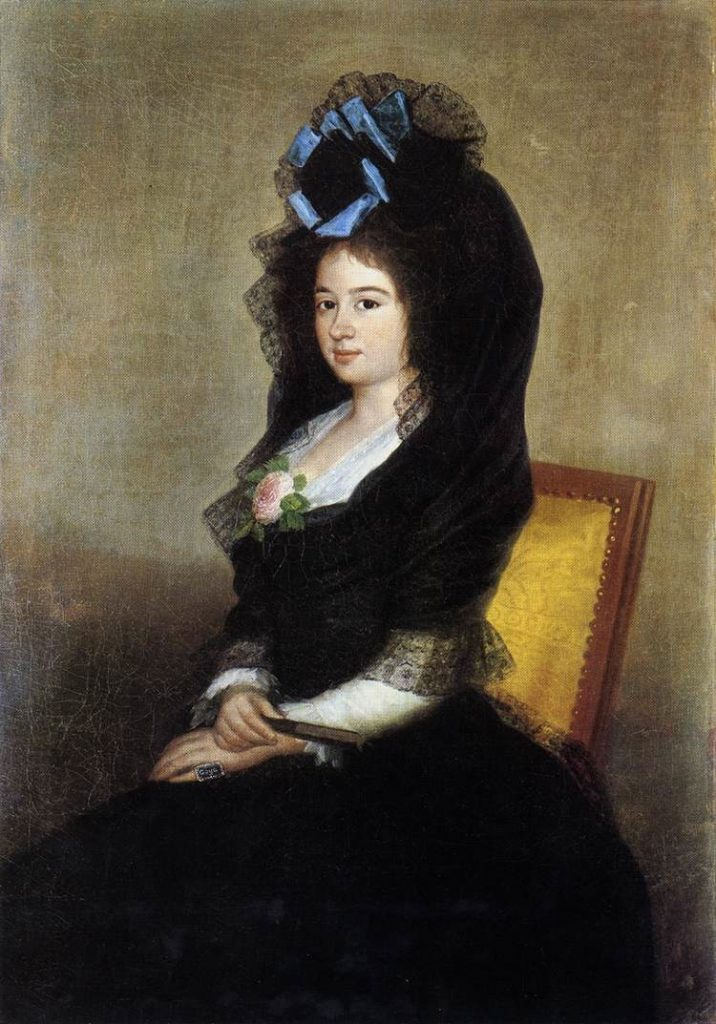 Attributed to Francisco Goya, Dona Narcisa Banana de Goicoecha, c. 1810, oil on canvas, Metropolitan Museum of Art, New York