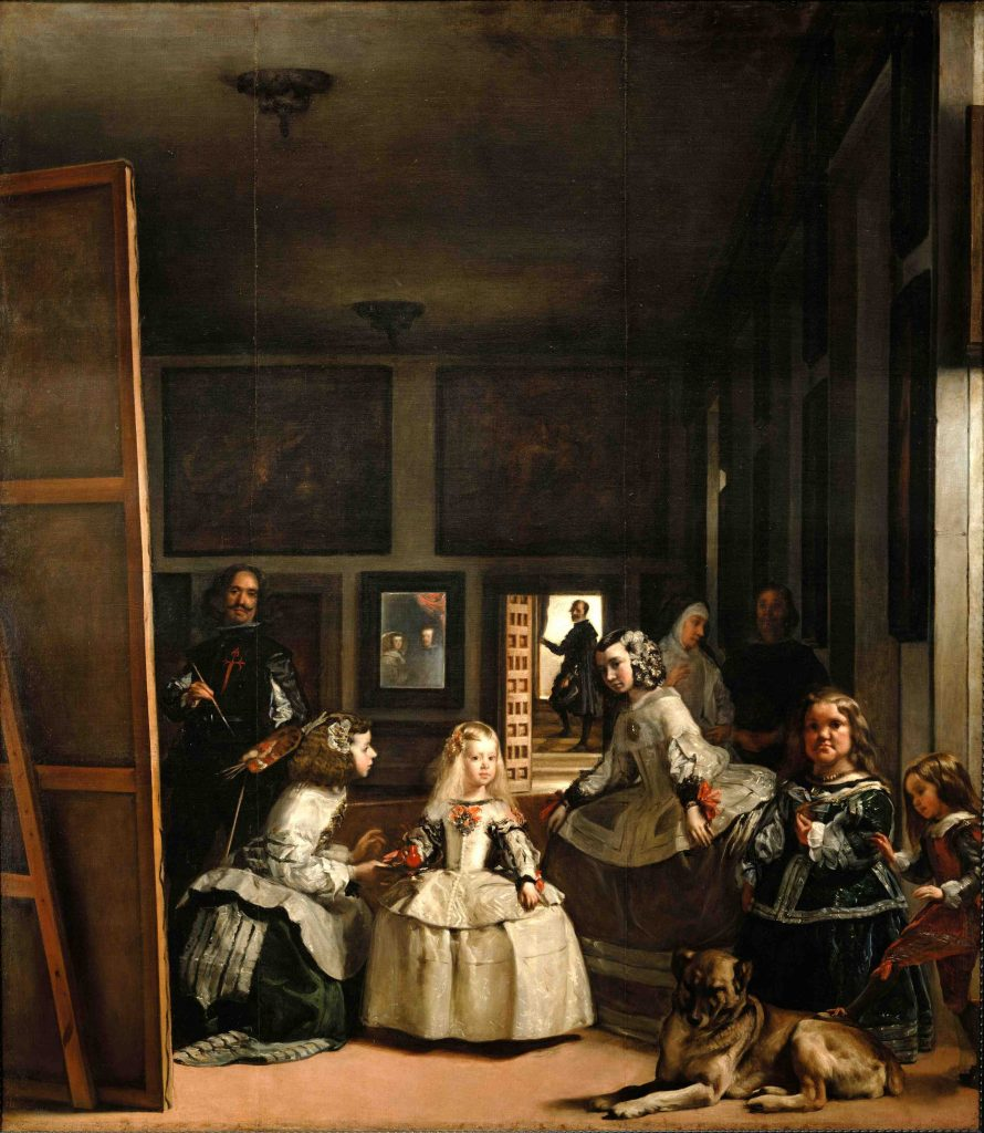 Diego Velazquez, Las Meninas, detail, 1656, oil on canvas, Museo del Prado, Madrid Spain