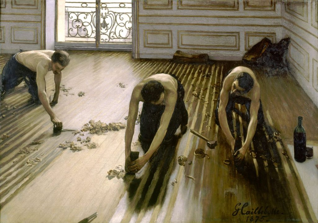 Gustave Caillebotte, The Floor-Scrapers, 1875, oil on canvas, Musee D
