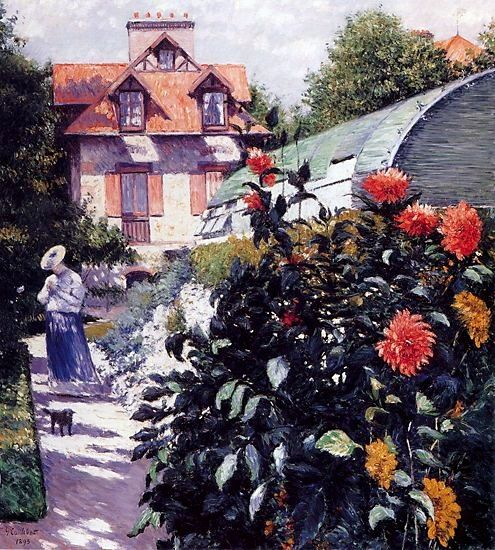 Gustave Caillebotte, Dahlias, Garden at Petit Gennevilliers, 1893, oil on canvas, Private Collection