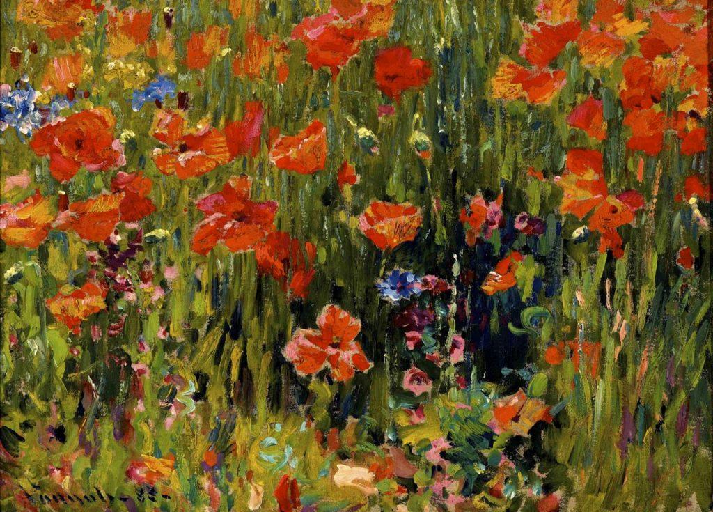 Robert William Vonnoh, Poppies, 1888, oil on canvas, Indianapolis Museum of Art, Indianapolis, Indiana
