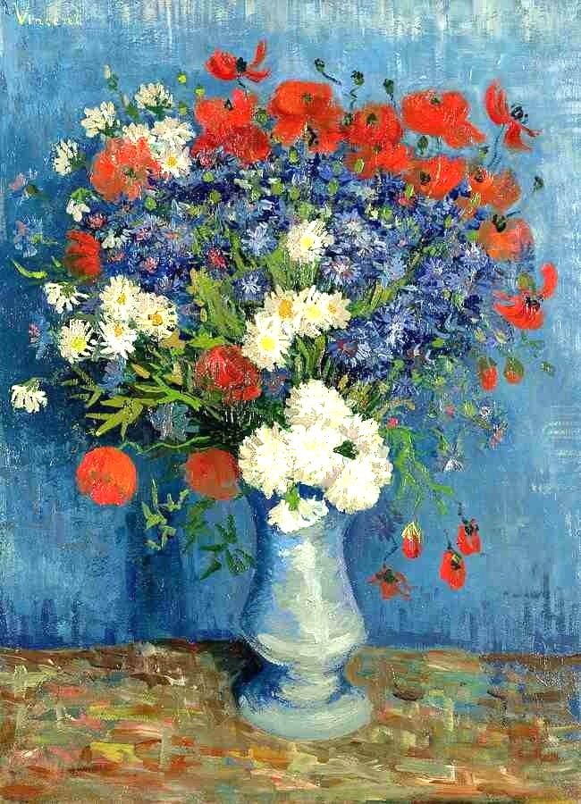 Van Gogh, Vase of Cornflowers and Poppies