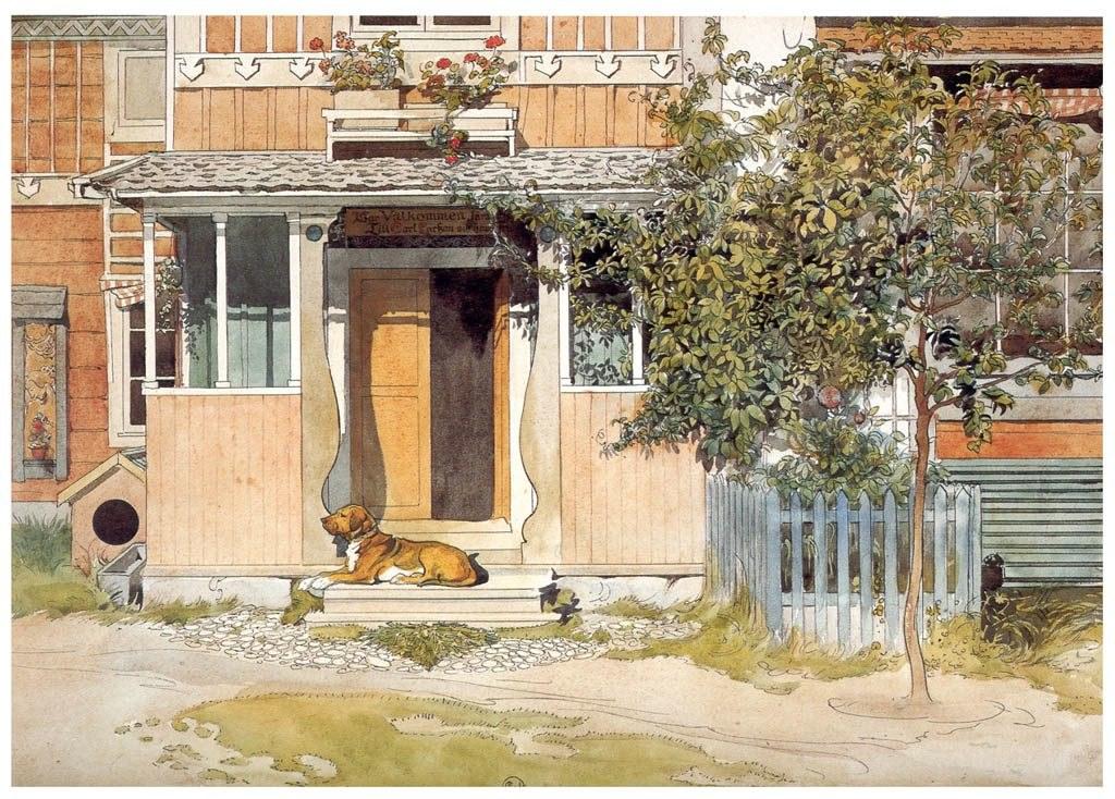 Carl Larsson, The Verandah, c. 1895, watercolor, Nationalmuseum, Stockholm, Sweden