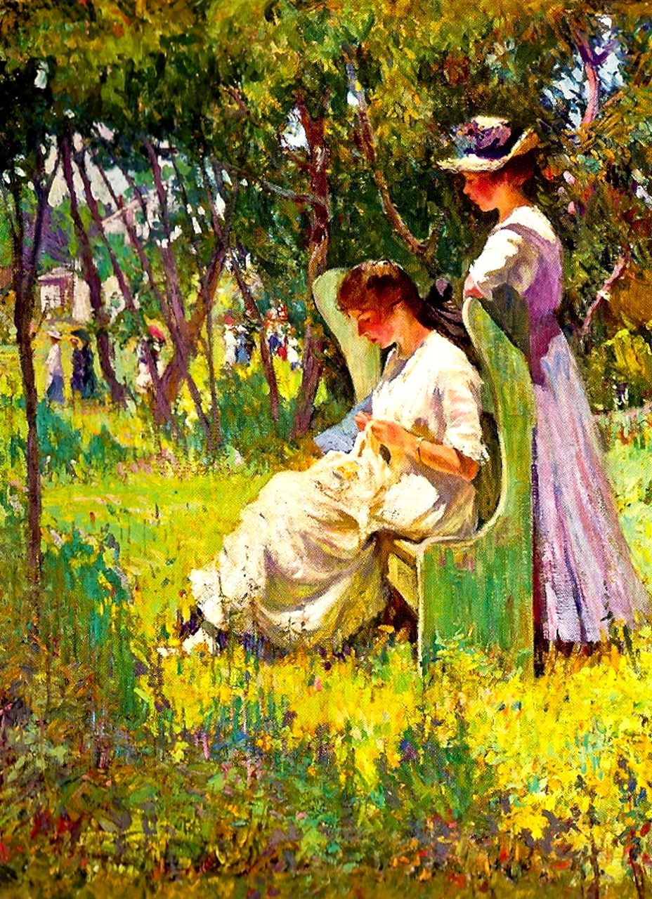 Mary Bradish Titcomb, Two Girls, Old Lyme, Connecticut, n.d., oil on canvas, Private Collection